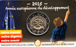 Belgien 2€ Gedenkmünze 2015 - Europäisches Jahr für Entwicklung CC Frankreich
