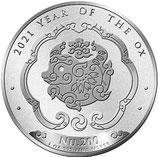 Bhutan - Lunar Ochse 2021