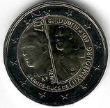 Luxemburg 2€ Gedenkmünze 2017 - Großherzog Wilhelm III