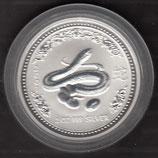 Australien Lunar I 2 Unzen 2001 Schlange