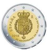 Spanien 2€ Gedenkmünze 2018 - Geburtstag König Felipe VI