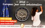 Belgien 2€ Gedenkmünze 2015 - Europäisches Jahr für Entwicklung CC Niederlande
