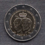 Luxemburg 2€ 2014 - Thronbesteigung