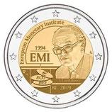 Belgien 2€ Gedenkmünze 2019 - 25 Jahre EMI Coincard