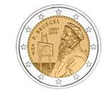 Belgien 2€ Gedenkmünze 2019 - Pieter Bruegel Coincard