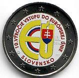 Slowakei 2 € 2014 - EU Beitritt koloriert B