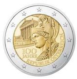 Österreich 2€ Gedenkmünze 2018 -  100 Jahre Republik Österreich