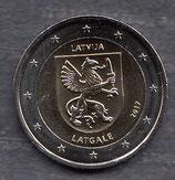 Lettland 2€ Gedenkmünze 2017 - Region Letgallen