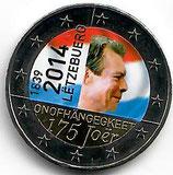 Luxemburg 2€ 2014 - Unabhängigkeit koloriert B