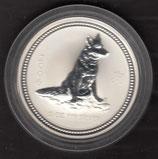 Australien Lunar I 2 Unzen 2006 Hund
