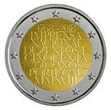 Portugal 2€ Gedenkmünze 2018 -  250 Jahre Nationale Druckerei