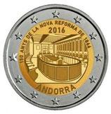 Andorra 2€ 2016 - 150 Jahre neue Reform