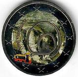 Slowenien 2€ 2013 - Höhlen von Postojna koloriert