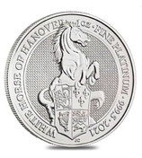 Queens Beast White Horse 1oz Platin 2021