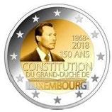 Luxemburg 2€ Gedenkmünze 2018 - 150 Jahre Luxemburger Verfassung