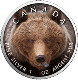 Kanada -Wildlife Serie IV 2019 Grizzly II koloriert