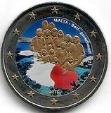Malta 2€ Gedenkmünze 2013 - Selbstverwaltung koloriert