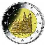 Deutschland 2€ 2021 - Sachsen / Anhalt 5er Set