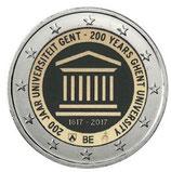 Belgien 2€ Gedenkmünze 2017 - 200 Jahre UNI Gent