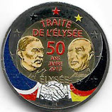 Deutschland 2€ 2013 - Elysèe Vertrag koloriert B