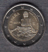 Spanien 2€ Gedenkmünze 2014 - Antonio Gaudi