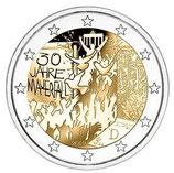 Deutschland 2€ 2019 - Mauerfall  A - D - F - G - J