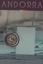 Andorra 2€ Gedenkmünze 2015 - Volljährigkeit