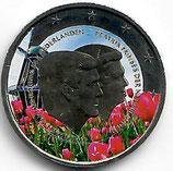 Niederlande 2€ 2014 - Doppelportait koloriert B