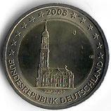 Deutschland 2€ Gedenkmünze 2008 - Hamburger Michel