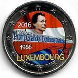 Luxemburg 2€ Gedenkmünze 2016 - Charlotte Brücke koloriert