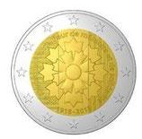Frankreich 2 € Gedenkmünze 2018 - Kornblume