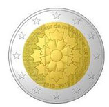 Frankreich 2 € 2018 - Kornblume