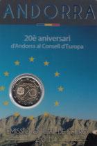 Andorra 2€ Gedenkmünze 2014 - 20 Jahre Europarat