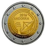 Andorra 2€ Gedenkmünze 2016 - Radio und Fernsehen