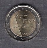 Slowenien 2€ Gedenkmünze 2016 - Unabhängigkeit