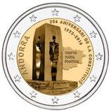 Andorra 2€ 2018 - 25 Jahre Verfassung
