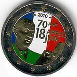 Frankreich 2€ 2010 - Charles de Gaulle koloriert