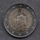 Deutschland 2€ Gedenkmünze 2015 - 25 Jahre deutsche Einheit