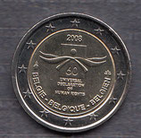 Belgien 2€ Gedenkmünze 2008 - Menschenrechte
