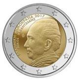 Griechenland 2€ Gedenkmünze 2017 -  Nikos Kazantzakis