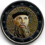 Finnland 2€ Gedenkmünze 2013 - Sillanpaa koloriert