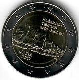 Malta 2€ Gedenkmünze 2017 - Hagar Qim
