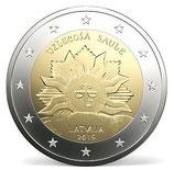 Lettland 2€ 2019 - Aufgehende Sonne