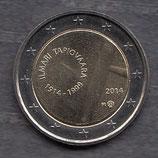 Finnland 2€ Gedenkmünze 2014 - Ilmari Tapiovaara