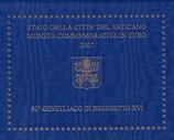 Vatikan 2€ Gedenkmünze 2007 - 80. Geburtstag Benedikt