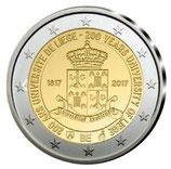 Belgien 2€ Gedenkmünze 2017 - 200 Jahre UNI Lüttich