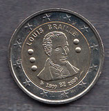 Belgien 2€ Gedenkmünze 2009 - Louis Braille