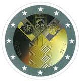 Estland 2€ Gedenkmünze 2018 - Baltische Gemeinschaftsausgabe Unabhängigkeit