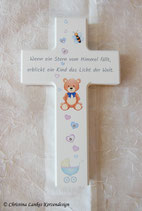 Kinderkreuz mit Kristallen