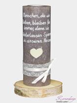 """Gedenkkerze """"Menschen die wir lieben..."""""""